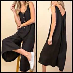 COMING SOON! Black Button Down Jumpsuit